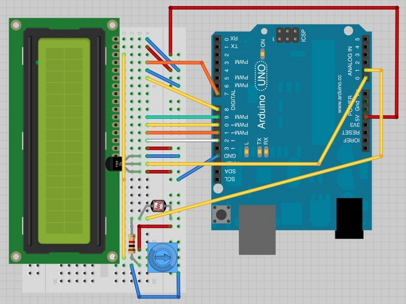 Arduino Cannot Get Ecg Readings From Heart But I Do When I Poke At The Leads moreover Arduino Ads1115 Differential Voltmeter Tutorial besides Control Anything With Esp8266 Wifi Module together with Lcdtemp also Arduino Thermometer LCD I2C. on arduino breadboard